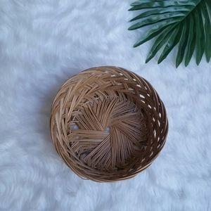 Vintage Wicker Plant Basket
